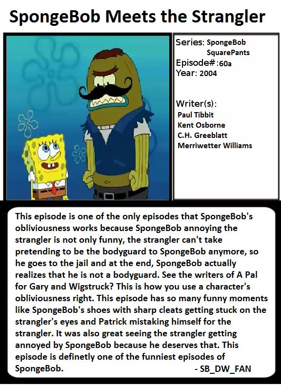 1001 Animations Spongebob Meets The Strangler By Spongebobdrwhofan