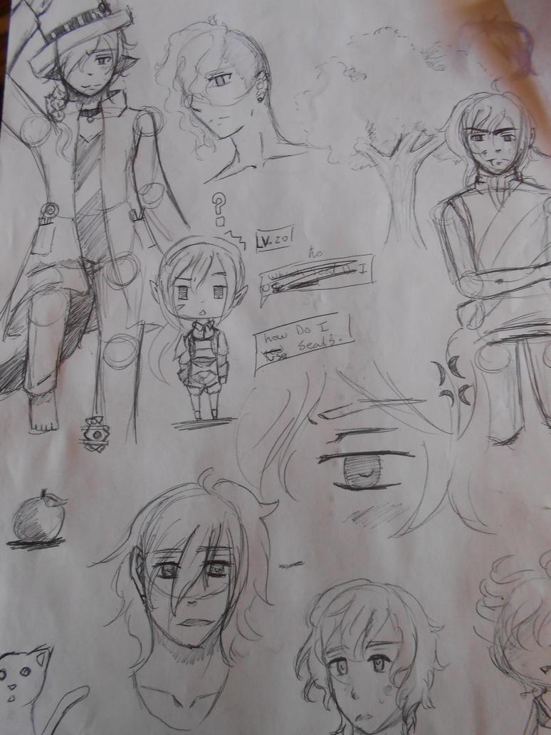 sketch page by Cloverangelofdarknes