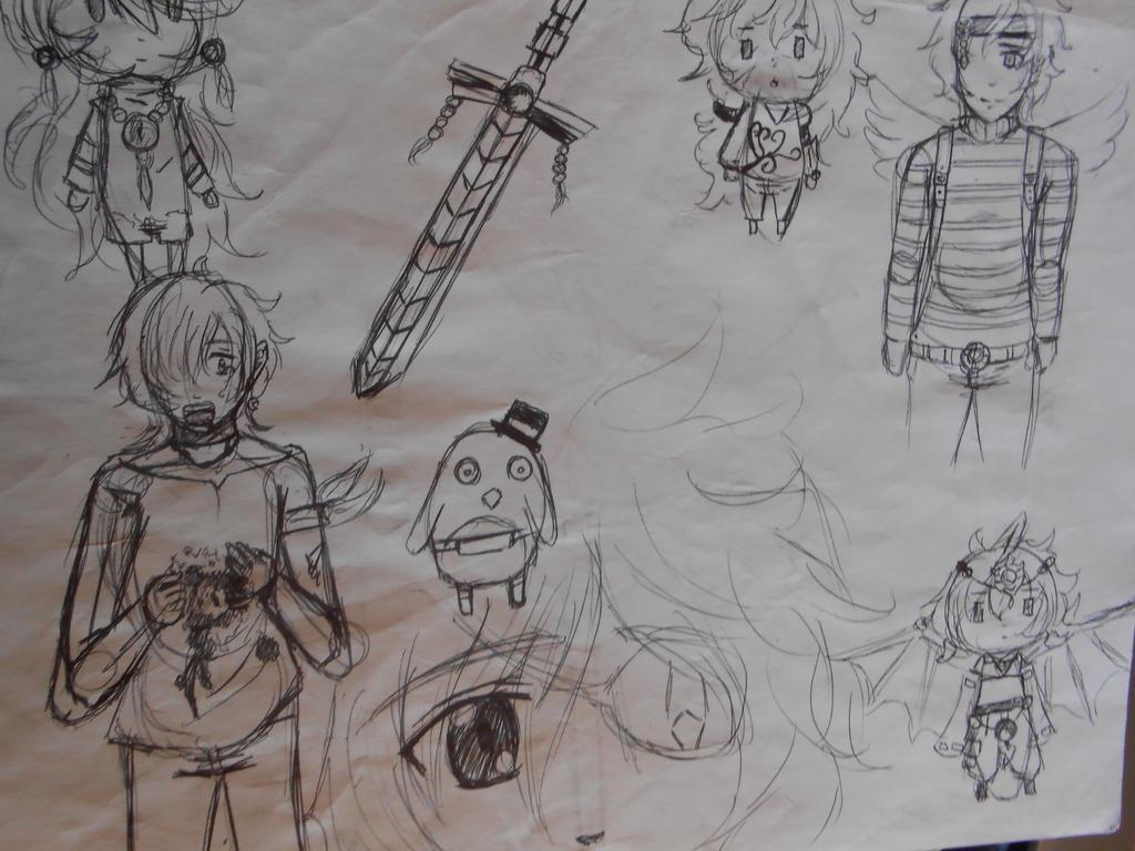 sketch page 2 by Cloverangelofdarknes
