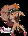 Render: Bakemonogatari series - Hachikuji Mayoi by Panelletdelimon