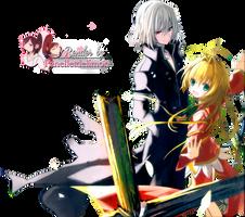 Render: Kami-sama no Inai Nichiyoubi - Hampnie and by Panelletdelimon