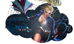League of legends - Janna by Panelletdelimon