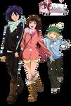 Render: Noragami - Yato, Hiyori and Yukine by Panelletdelimon