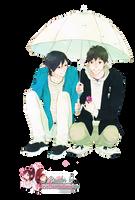Render: Raining boys by Panelletdelimon