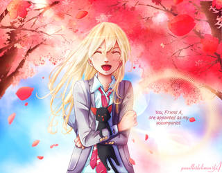 Color: Kaori Miyazono by Panelletdelimon