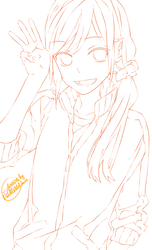Lineart: Hori - Horimiya by Panelletdelimon