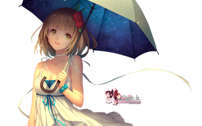 Render: Umbrella girl