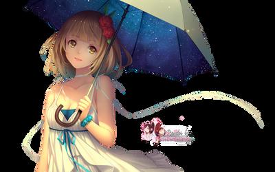 Render: Umbrella girl by Panelletdelimon