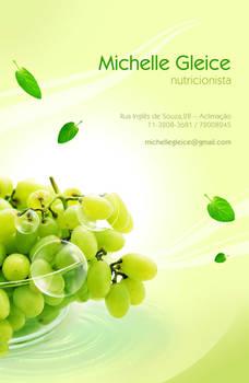 Cartao de visita Nutricionista