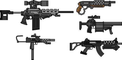 Weapon Edit Pack #1 by NeoMetalSonic360