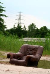 the puffy chair.