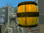 Godzilla vs Donkey Kong