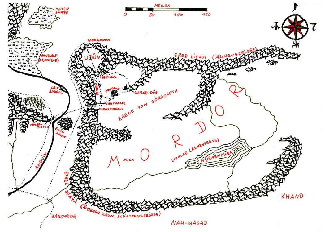 map of mordor by eruvaeron on deviantart