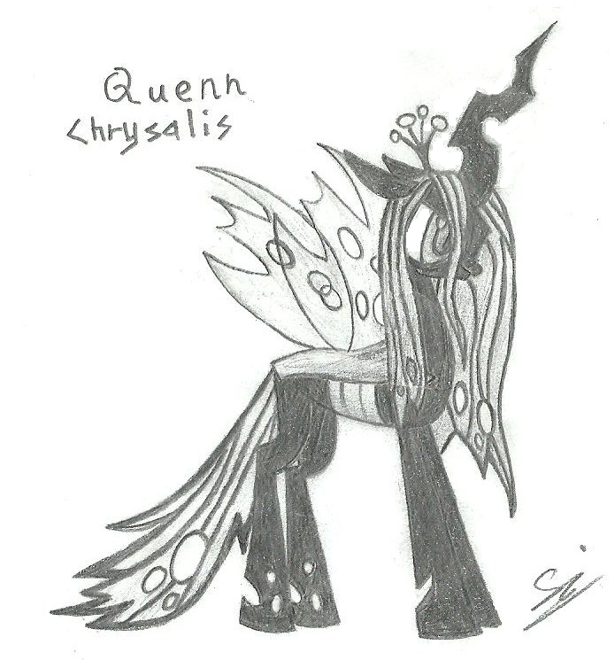 Friend Request: Queen Chrysalis (Fixed) by greyamoon