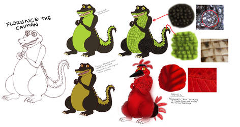 CHU-PIDE CONCEPT ART~Florence the Caiman by LittleMissSquiggles