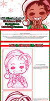 .:Christmas 2013 Squiggleroo Colouring Process .: