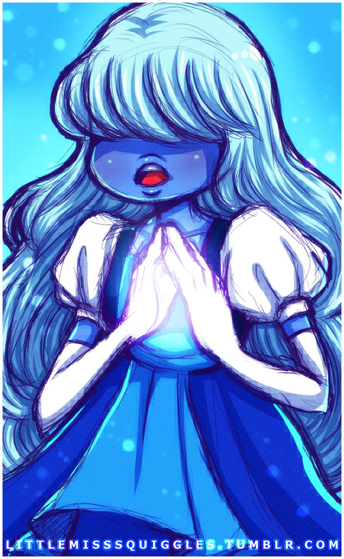 SQUIGGLE SKETCH. SAPPHIRE. STEVEN UNIVERSE by LittleMissSquiggles