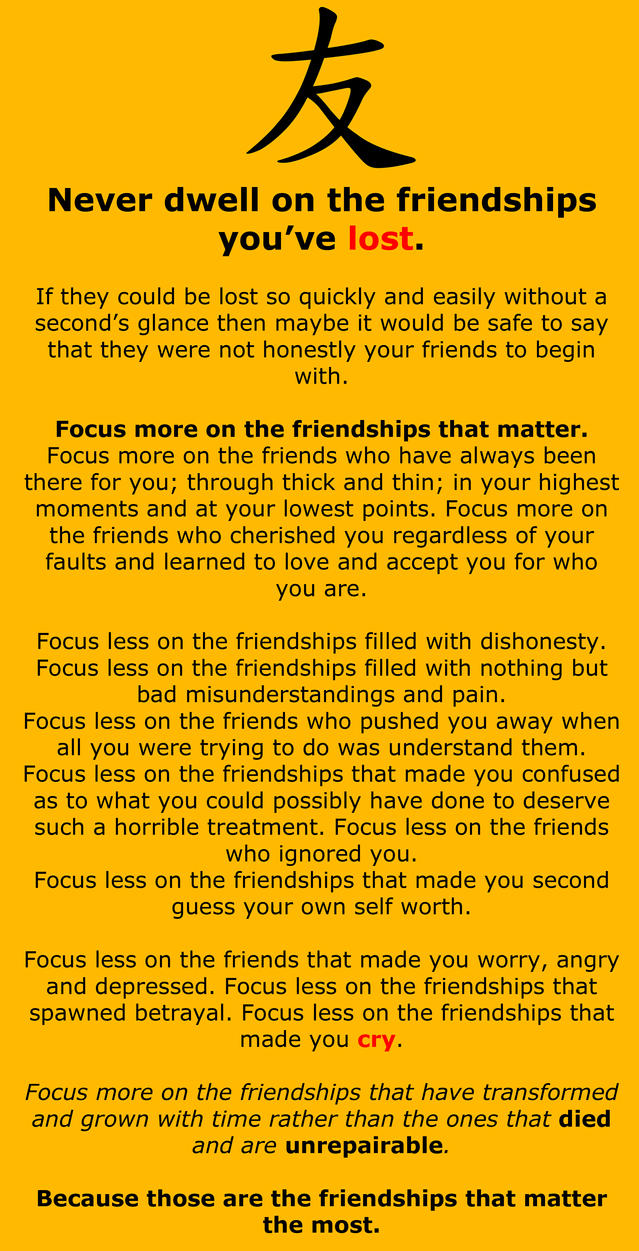 Food For Thought On Friendships by LittleMissSquiggles