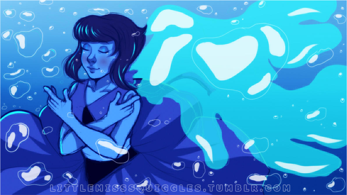.: STEVEN UNIVERSE~ THE WATER ANGEL .: by LittleMissSquiggles