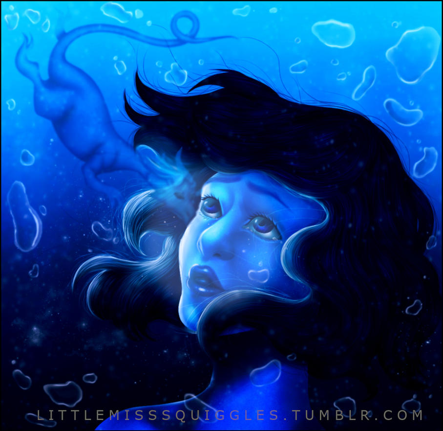 STEVEN UNIVERSE~ THE OCEAN DRAGON~ LAPIS LAZULI by LittleMissSquiggles