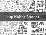 Map making brush pack
