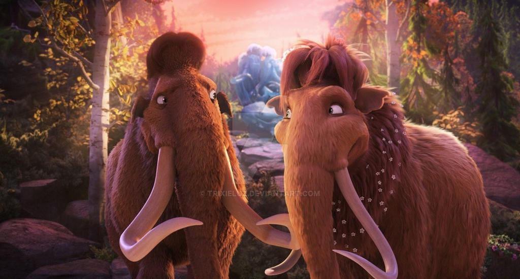 ice age collision course ellie and manny by trixieluz on deviantart