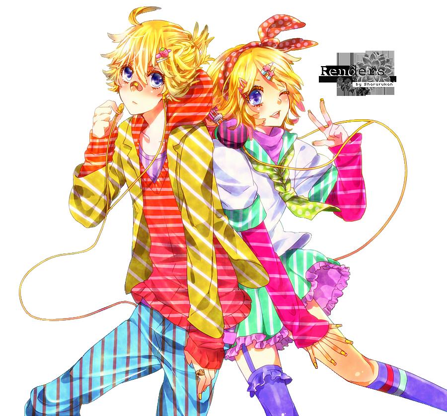 Renders Pokémon & Vocaloid Len_and_rin_render_by_sharurukan-d5a0hs6