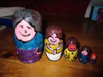 Very Rustic Nesting Dolls by ThornyEnglishRose