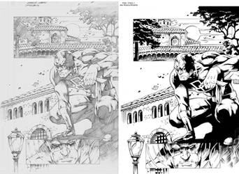 Samples Daredevil 1 Pencil and Ink by MissouriMutants
