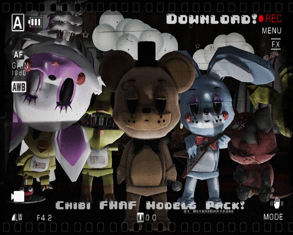 MMDxFNaF) NEW!Chibi FNaF Model Packs DL! by Smol-Hooman on
