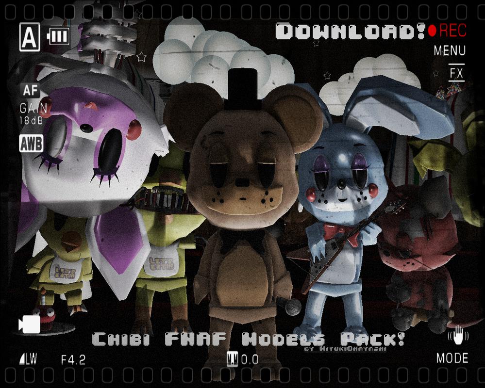 (MMDxFNaF) NEW!Chibi FNaF Model Packs DL! by Smol-Hooman