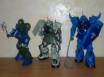 Zaku and Gouf