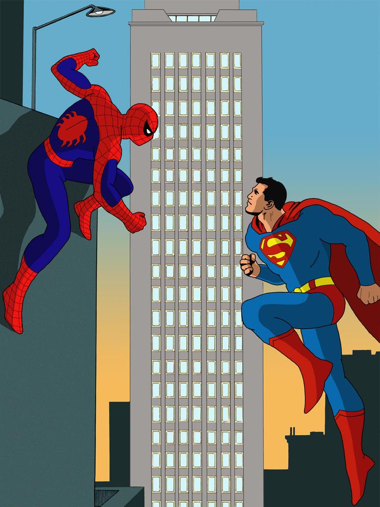 Spiderman VS Superman by farstar09 on DeviantArt