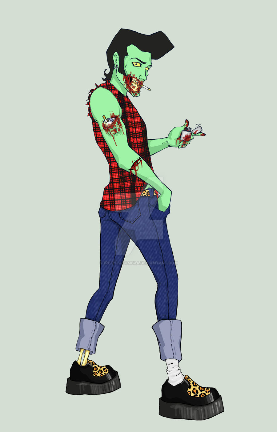 Zombie Rockabilly by irethlasombra