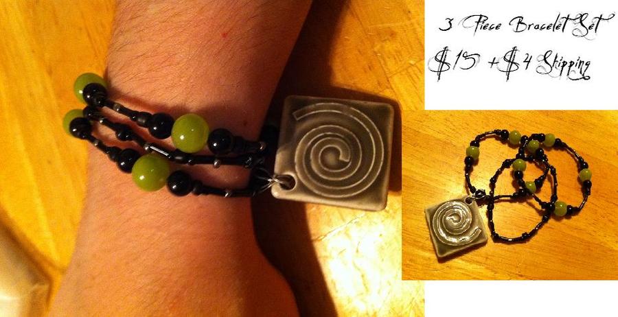 3 Piece Bracelet Set by Jiel