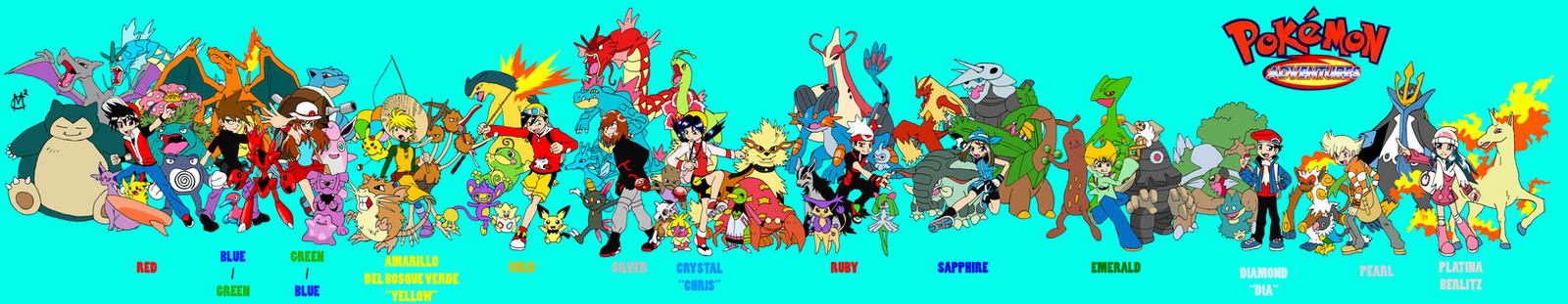 quot;Pokemon Adventuresquot; cast by EmSeeSquared on DeviantArt