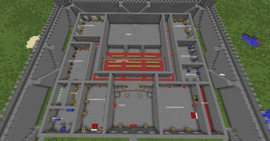 My minecraft castle 2nd floor by quagmirefan1 on deviantart for Minecraft foyer ideas