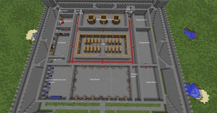 my minecraft castle 4th floor by quagmirefan1 on deviantart