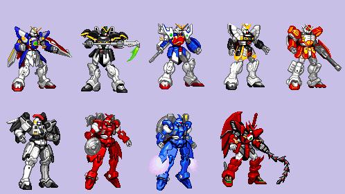 Gundam Sprites Retouch by Quagmirefan1
