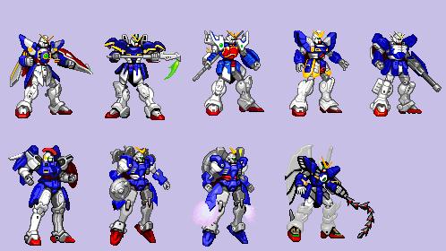 Gundam Wing Sprites pallete swap by Quagmirefan1