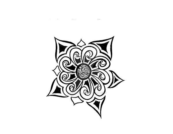 old spanish flower design by arionandriz on deviantart. Black Bedroom Furniture Sets. Home Design Ideas