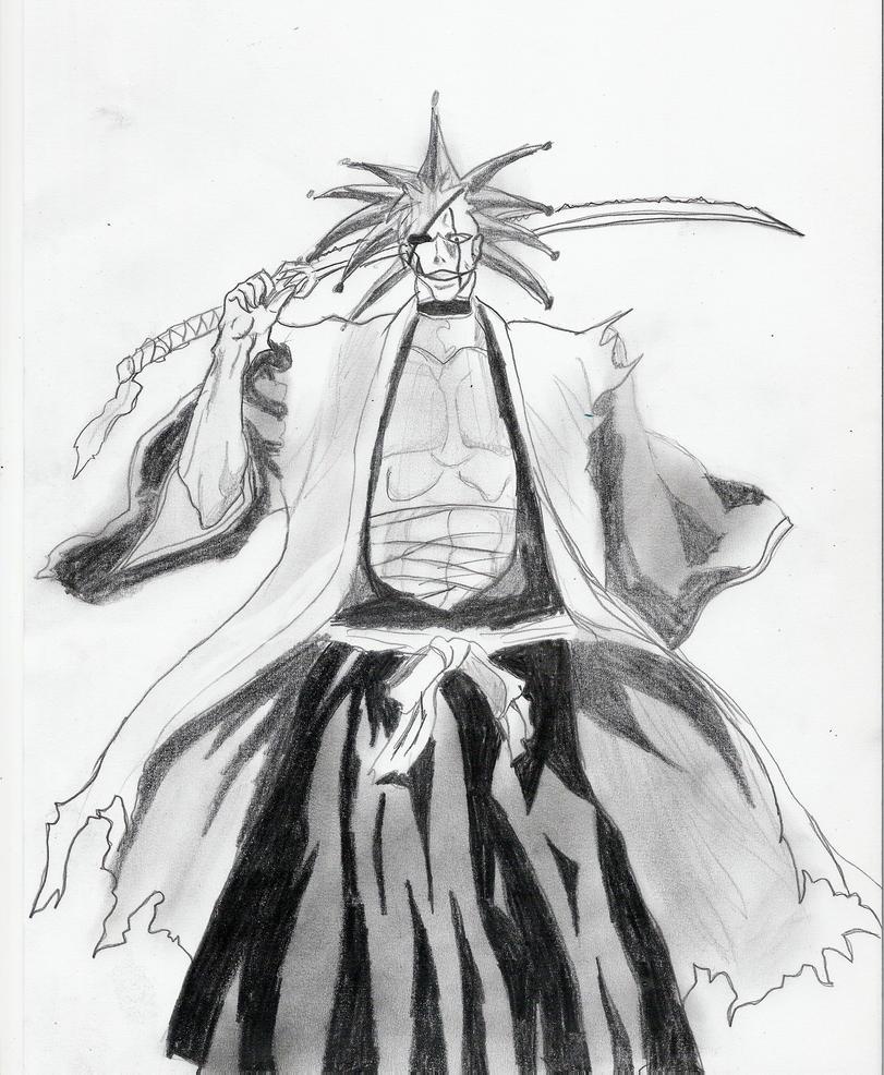 Zaraki Kenpachi Sketch By Steffburney