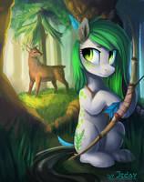 The forest hunter by JedaySkayVoker