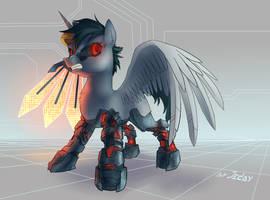 Cyber alicorn by JedaySkayVoker