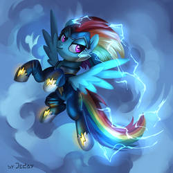 Rainbow Dash supermare by JedaySkayVoker