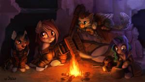 The campfire [commission] by JedaySkayVoker