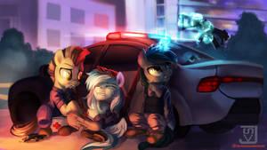 Police ponies by JedaySkayVoker