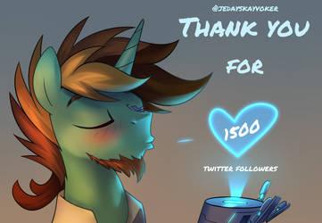 My twitter anniversary by JedaySkayVoker