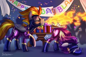 Birthday blowjob