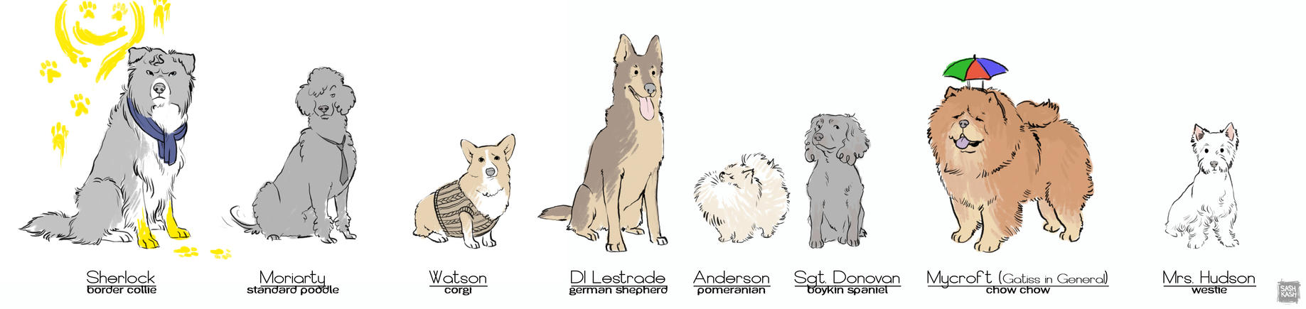 Sherlock Dogs by Sash-kash